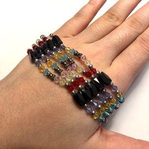 Vintage Y2K Colorful Bead Magnetic Energy Bracelet